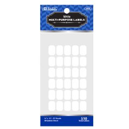 "48 Units of Bazic 1/2"" X 3/4"" White Multipurpose Label (510/pack) - Labels ,Cards and Index Cards"