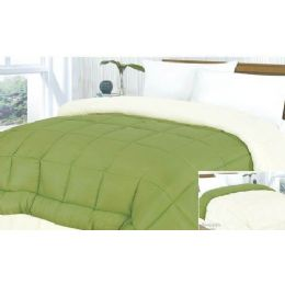 6 Units of Mircofiber Reverisble Comforter Asst Colors King Size - Blankets & Bedding