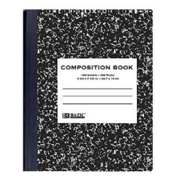 48 Units of Bazic W/r 100 Ct. Black Marble Composition Book - Notebooks