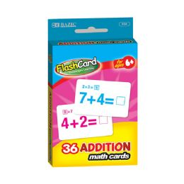 24 Units of BAZIC Addition Flash Cards (36/Pack) - Teacher & Student