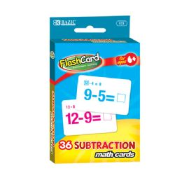 144 Units of Bazic Subtraction Flash Cards (36/pack) - Teacher & Student