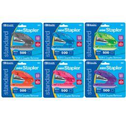 72 Units of BAZIC Mini Standard (26/6) Stapler w/ 500 Ct. Staples - Staples and Staplers
