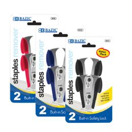 72 Units of BAZIC Claw Style Staples Remover w/ Safety Lock (2/Pack) - Staples and Staplers