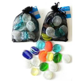48 Units of Decorative Jumbo Glass Beads - Craft Beads