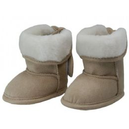 24 Units of Baby's Velcro Strap Winter Boots - Girls Boots