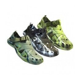 24 Units of Men's Camouflage Velcro Sandals - Men's Flip Flops and Sandals