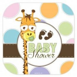 """144 Units of Baby Shower 9"""" Plate 8Ct. - Baby Shower"""