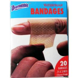 48 Units of Waterproof Bandages 20 Pack - Bandages and Support Wraps