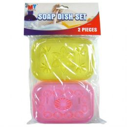 48 Units of Wholesale BulkSoap Holder 2PK - Soap Dishes & Soap Dispensers
