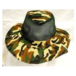 72 Units of Fishing Hat Camouflage Cowboy Style - Cowboy & Boonie Hat