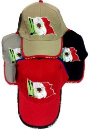 48 Units of Baseball Hats Caps Mexican Flag Mexico Hats - Baseball Caps & Snap Backs