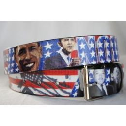 48 Units of American flag Obama Belts - Unisex Fashion Belts