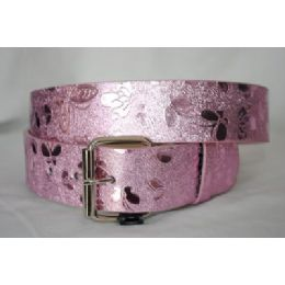 48 Units of Women's Butterfly Printed Belt - Womens Belts