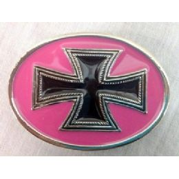 36 Units of Pink Cross Belt Buckle - Belt Buckles
