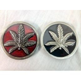 48 Units of Marijuana Leaf Belt Buckle - Belt Buckles