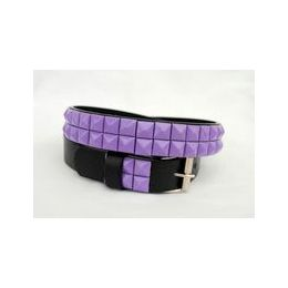 48 Units of 2-Row Metal Pyramid Studded Kids Leather Belt Unisex Boy Girl - Unisex Fashion Belts