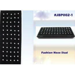 180 Units of 60pc Large Rhinestone Nose Studs - Body Jewelry