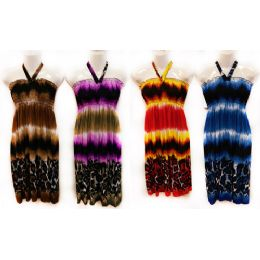 30 Units of Solid Color Neck Tie Dress Assorted Colors - Womens Sundresses & Fashion