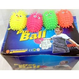 48 Units of 36 pcs Light Up Spike Ball assorted color great for kid - Light Up Toys