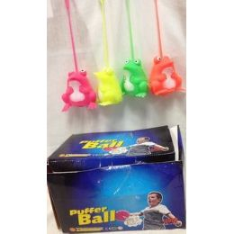 48 Units of 24 pcs Light Up Spike Ball assorted color great for kid - Light Up Toys