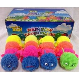 48 Units of 12 Pcs Light Up Spike Caterpillar Assorted Color - Light Up Toys