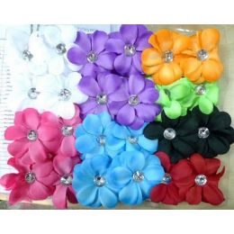 36 Units of Solid color hair Flower for woman/ lady - Hair Accessories