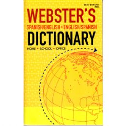 72 Units of Webster Spanish & English Dictionary - Crosswords, Dictionaries, Puzzle books