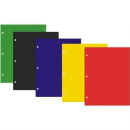 48 Units of Twin Pocket Laminated Folders With HoleS- Asst Colors - Folders and Report Covers