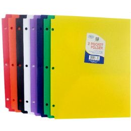 60 Units of Snap In Plastic 2 Pocket Folders - Assorted Colors - Folders and Report Covers