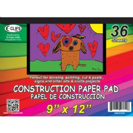 48 Units of Construction Paper Pad, 9x12, 36 Sheets - Sketch, Tracing, Drawing & Doodle Pads