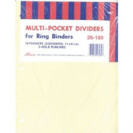 40 Units of AMPAD Pocket Dividers - 5 pk. - 10 Pockets - Tab Dividers
