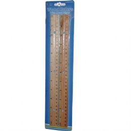 48 Units of Wooden Ruler 2pk . - Rulers