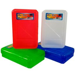 "48 Units of Pencil Box, ""The Box"", Asst. Colors - Pencil Boxes & Pouches"