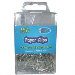 48 Units of Silver Paper Clips 150ct - Push Pins and Tacks