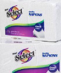 18 Units of 150 Count 1 Ply Paper Napkins - Napkin and Paper Towel Holders