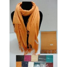 48 Units of Pashmina With FringE--Solid Color - Womens Fashion Scarves