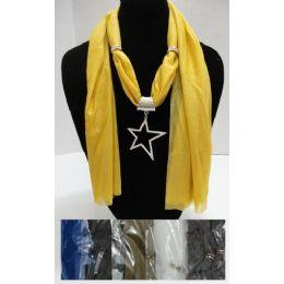 "36 Units of Scarf NecklacE-Rhinestone Star 68"" - Womens Fashion Scarves"