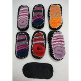 12 Units of Kids NoN-Slip Knitted Booties 6-8 - Girls Boots