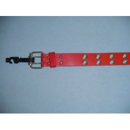36 Units of Red Belt With Holes Medium Only - Unisex Fashion Belts