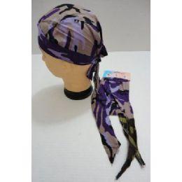 36 Units of Skull CaP-Purple/tan Camo - Bandanas