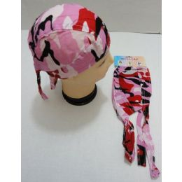 36 Units of Skull CaP-Pink/red Camo - Bandanas