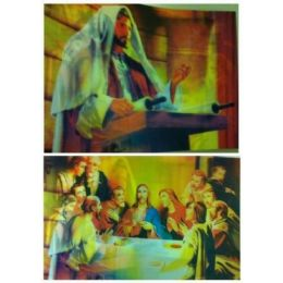 "50 Units of 13.5""x9.75"" 3D Image--Jesus/The last Supper - Wall Decor"