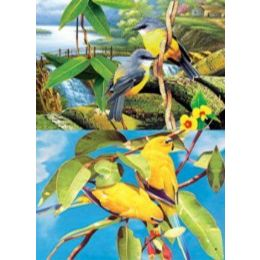 20 Units of 3D Picture-Birds In Trees - Wall Decor