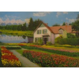 20 Units of 3D Picture-House by the Lake - Wall Decor