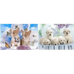 20 Units of 3D Picture-Puppies & Butterflies - Wall Decor