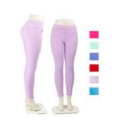36 Units of Ladies Black Stretch Pants / Leggings - Womens Leggings