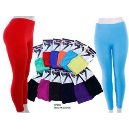 60 Units of Ladies Bright Colors Leggings - Womens Leggings