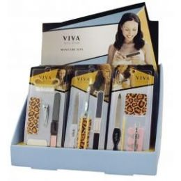 144 Units of Viva Nail Care Manicure Set In Display - Manicure and Pedicure Items
