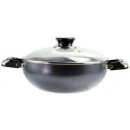 8 Units of Belly Shaped Cooking Pots Feature Tempered Glass Lids With Steam Holes - Frying Pans and Baking Pans