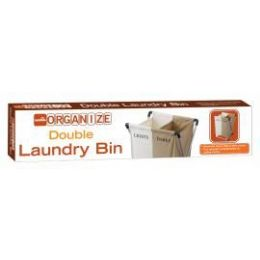 6 Units of Double Lights And Darks Laundry Bin - Laundry  Supplies